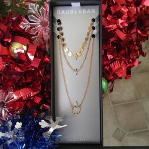 🎅 BaubleBar Layered Gold Necklace